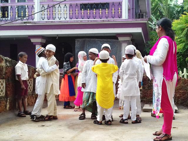 Eid celebration at Don Bosco, Dabolim