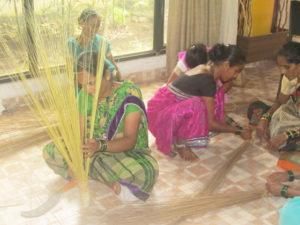 Hard Broom Production Skill Training, Sindhudurg