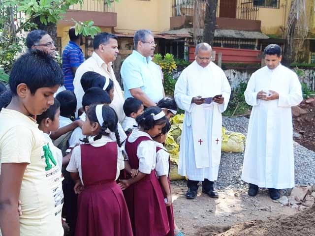 Blessing of the Foundation Stone at Don Bosco Primary School, Alto Dabolim
