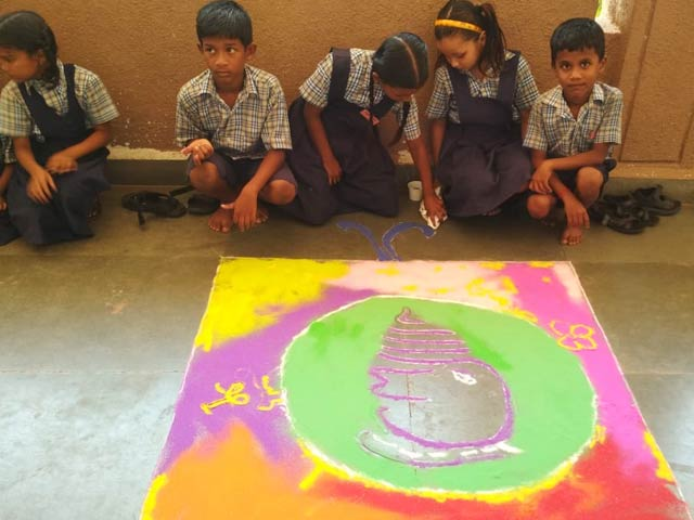 Rangoli Competition at Don Bosco, Odxel