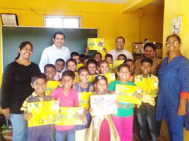 Distribution of Stationery to the Students of the Remedial School Project