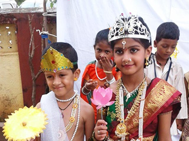 Diwali is celebrated at Don Bosco, Dabolim