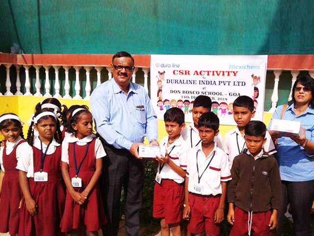Duraline partners with KDS to support Don Bosco, Dabolim.