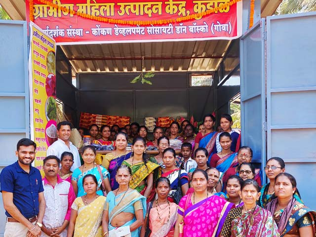 Inauguration of Self Help Groups' Market Outlet in Kudal, Sindhudurg District